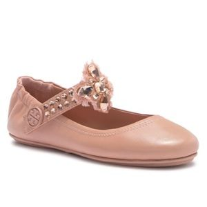 NEW Tory Burch Minnie Embellished Flat two way